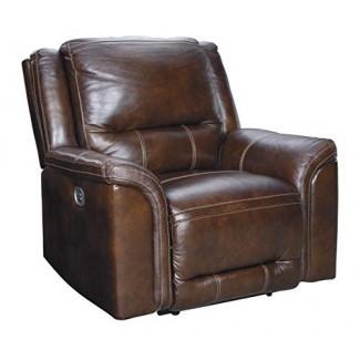Diseño exclusivo de Ashley U8300413 Sillón reclinable Catanzaro Power de caoba
