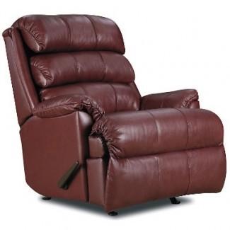 Muebles de carril Richard Rocker de cuero de grano superior ...