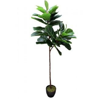 Real Touch Silk Fiddle Leaf Fig Tree en maceta