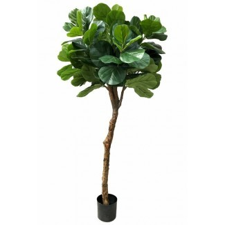 Real Touch Silk Fiddle Leaf Fig Tree in Pot