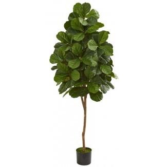 Fiddle Leaf Fig Floor Foliage Tree en Planter