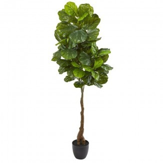 Artificial Fiddle Leaf Fig Tree en maceta