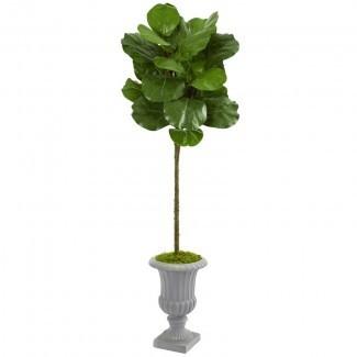 Artificial Fiddle Leaf Fig Tree in Urna decorativa
