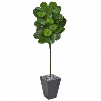 Artificial Fiddle Leaf Fig Tree in Planter