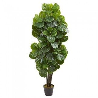 Casi natural 9107 5-Ft. Fiddle Leaf Fig Artificial Silk Trees Green