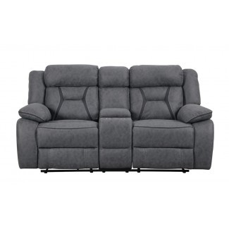 Loveseat reclinable Motion Tien con consola