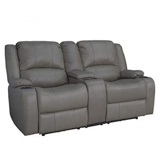 "RecPro Charles 67 ""Powered Double RV Wall Hugger Recliner Sofa RV Loveseat"