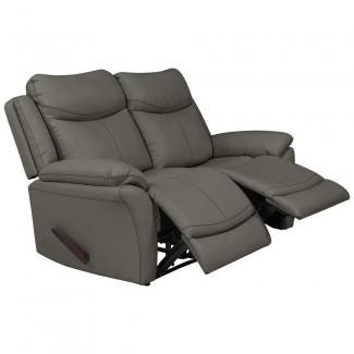 ProLounger gris topo Tuff Stuff Fabric 2-Seat Hugger de pared ...