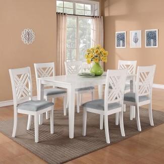 Comedor: juegos de comedor blanco glamoroso Comedor blanco ...