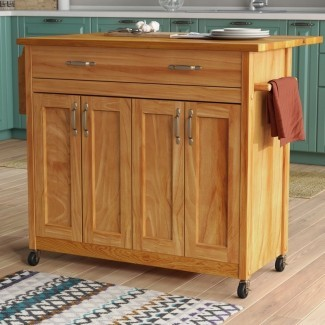 Remsen Kitchen Isla con tapa de madera