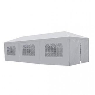 Toldo GOJOOASIS Carpa para fiesta de bodas Carpa de 10 'x 30' con 8 paredes removibles Gazebo para exteriores
