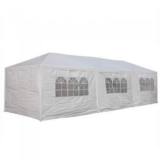 Carpa de boda Delta 10'x30 'blanca - Pabellón Gazebo Party Catering Toldos para refugios de cochera