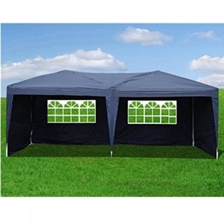 Goutime Uscanopy Easy Pop up Canopy Party Carpa, 10 X 20 pies, W / 4 paredes laterales extraíbles con bolsa de ruedas