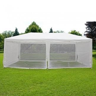 Quictent 10'x20' Outdoor Canopy Gazebo Party Wedding Carpa Screen House Sun Refugio de sombra con pared lateral de malla completamente cerrada
