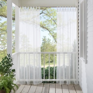 Bayport Appleton Panel de cortina simple superior con lengüeta sólida al aire libre