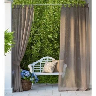 SunSpun Panel de cortina simple superior con lengüeta semi-transparente