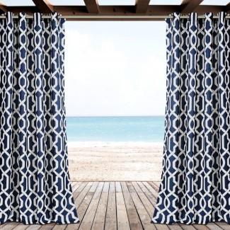 Paneles de cortina de ojal para exteriores Vance Damask (juego de 2)