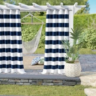 Paneles de cortina de ojales exteriores rayados Hamilton (juego de 2)