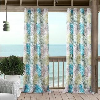 Ketterer Floral Oscurecimiento de habitación Panel de cortina individual con ojal interior / exterior