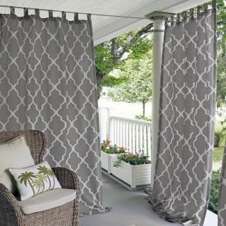 Geraghty Panel de cortina individual de poliéster interior / exterior