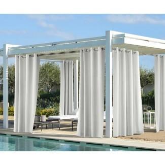 Panel de cortina simple Fairman Solid Semi-Sheer interior / exterior Panel de cortina simple