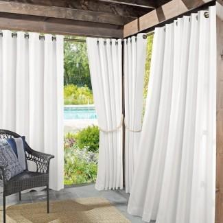 Roku Solid Oscurecimiento Outdoor Grom panel de cortina simple
