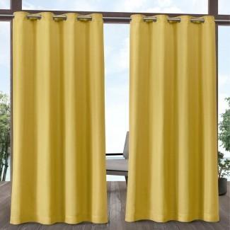 Griggs Solid Semi-Sheer Outdoor Paneles de cortina sólidos (juego de 2)