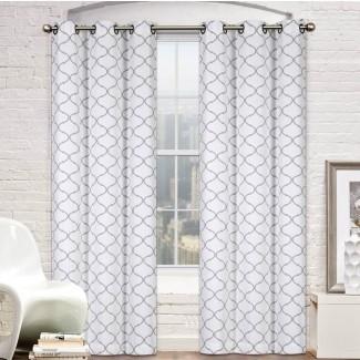 Ventana Pyne Oscurecimiento de habitación geométrica Premium Paneles de cortina de ojal para exteriores (juego de 2)