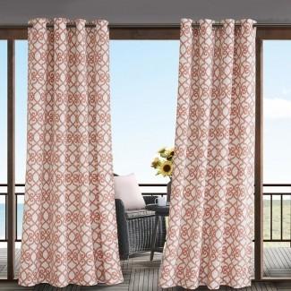 Barrows Geometric Panel de cortina simple de arandela exterior semi-transparente