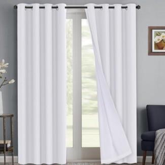 Ivybridge Revestimiento impermeable Sólido Blackout Térmico interior / exterior Paneles de cortina (Juego de 2)