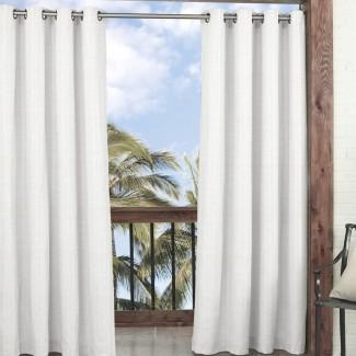 Key Largo Solid Semi-Sheer Panel de cortina simple de interior / exterior Grommet