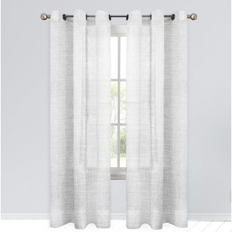 Arandela de exterior semi-transparente geométrica Estrada et Paneles de cortina (juego de 2)