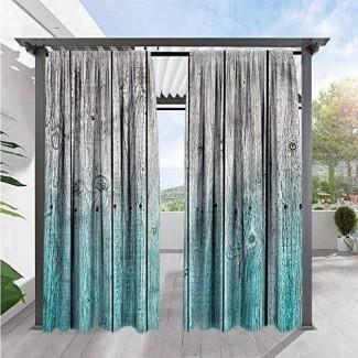 Marilds Cortinas oscurecedoras rústicas Paneles de madera digitales Draft Blocking Drapers