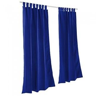 Essentials by DFO True Blue Sunbrella cortina para exteriores con lengüetas 84 de largo [19659078] Essentials by DFO True Blue Sunbrella cortina exterior con pestañas de 84 de largo </div> </p></div> <div class=