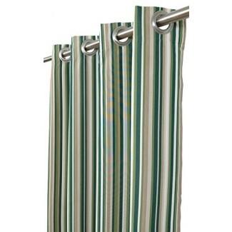 """India House Sunbrella Outdoor / Indoor Cortina Panel Catalina Cilantro con 8 arandelas de acero inoxidable, 50 """"por 120"""""""
