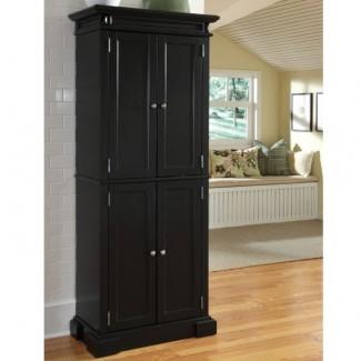 Cocina. Armario de cocina alto de madera con puertas para ...