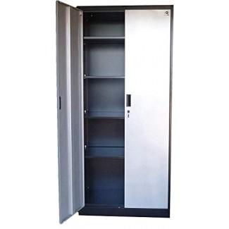 """Gabinete de almacenamiento de acero de 71 """"de altura, puertas con cerradura y estantes ajustables, (elija color) 70.86"""" de altura x 31.5 """"de ancho x 15.75"""" de profundidad, de Fedmax. (Negro)"""