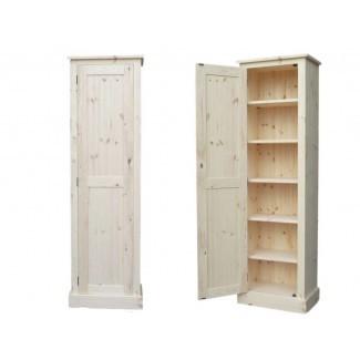 Muebles. Gabinete de almacenamiento estrecho alto de madera espresso ...