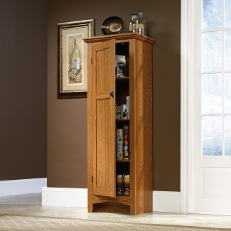Armario alto de madera para cocina con despensa ...