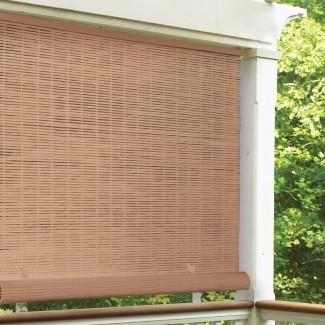 Sombra enrollable para exteriores semi-transparente sin cables