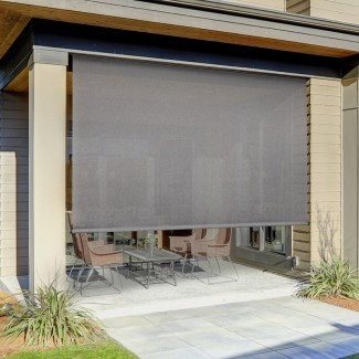 Sombra exterior enrollable semitransparente remota motorizada