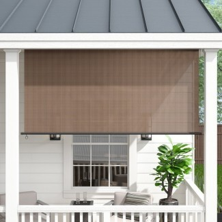 Deshotel Semi-Sheer Outdoor Solar / Roller Shade