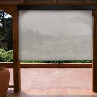 Sombra de rodillo exterior semi-transparente para trabajo pesado