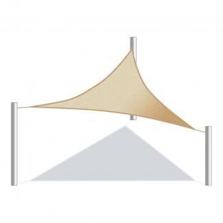 Exterior Bloque UV Vela de sombra triangular de 12 '