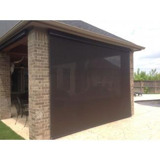 Persianas enrollables manuales para patio - Protectores solares americanos cortinas para el sol exterior