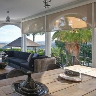 cortinas para el sol exterior Hampton Bay - The Home Depot