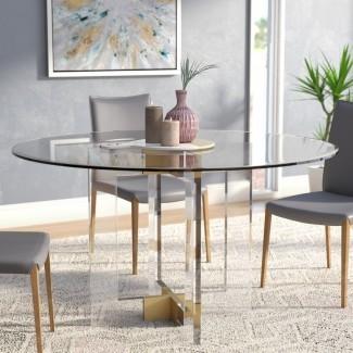 Mesa de comedor redonda de vidrio Gosta