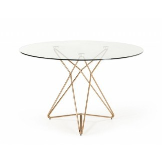Glass Circle Dining Table Sl Diseño interior Glass Round ...