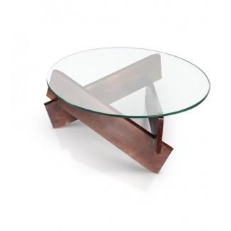 Mesa de centro redonda de vidrio de Mudramark Online ...