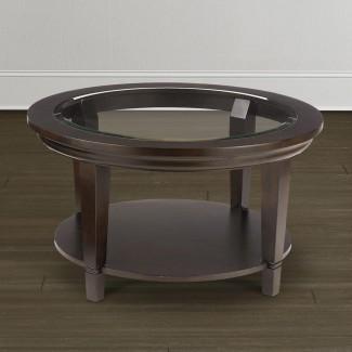 Mesa de centro de cristal con círculo superior | Ideas de diseño de la mesa de centro
